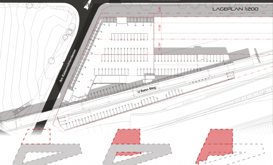 Donaustadt Supersize Lageplan-vektor